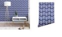 Deny Designs Schatzi Brown Justina Criss Cross Blue 2'x10' Wallpaper