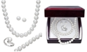 Macy's Pearl Jewelry Set, Sterling Silver Cultured Freshwater Pearl and Diamond Accent Jewelry Set