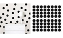 Brewster Home Fashions Matte Black Confetti Dots Set