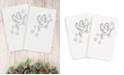 Linum Home CLOSEOUT!  Christmas Dove 100% Turkish Cotton 2-Pc. Hand Towel Set