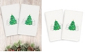 Linum Home CLOSEOUT!  Christmas Three Trees 100% Turkish Cotton 2-Pc. Hand Towel Set