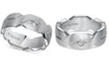 Macy's Triton Diamond Accent Geometric Band in White Tungsten Carbide