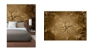 Brewster Home Fashions Gold Wall Mural
