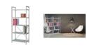 New Spec Inc New Spec Bookshelf Glass and Metal Frame