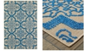 "Oriental Weavers Cayman 2541M Sand/Blue 5'3"" x 7'6"" Indoor/Outdoor Area Rug"