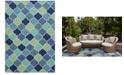 "Kas Harbor Stella 4231 Blue 5' x 7'6"" Indoor/Outdoor Area Rug"