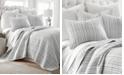 Levtex Home Bondi Stripe Gray King Quilt Set