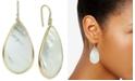 Argento Vivo Mother-of-Pearl Teardrop Drop Earrings in Gold-Plated Sterling Silver