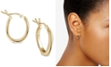 Argento Vivo Wavy Hoop Extra Small Earrings  in Gold-Plated Sterling Silver