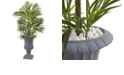 Nearly Natural 3.5' Areca Palm Tree w/ Gray Urn UV Resistant