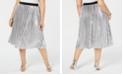 INC International Concepts INC Plus Size Metallic Pleated Midi Skirt, Created for Macy's
