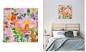 """iCanvas """"Butterflies and Echinacea"""" By Kim Parker Gallery-Wrapped Canvas Print - 26"""" x 26"""" x 0.75"""""""