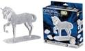 BePuzzled 3D Crystal Puzzle-Horse White - 98 Pcs