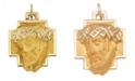 Macy's Christ Head Pendant in 14k Yellow Gold