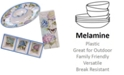 Certified International Hydrangea Garden Melamine 3-Pc. Hostess Set