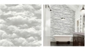 "Brewster Home Fashions Solst Cloud Wallpaper - 396"" x 20.5"" x 0.025"""