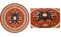 Bridgeport Home Charvi Chr1 Terracotta 8' x 8' Round Area Rug