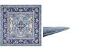 """Bridgeport Home Wisdom Wis2 Blue 8' 4"""" x 8' 4"""" Square Area Rug"""