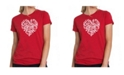 LA Pop Art Women's Premium Word Art T-Shirt - Love