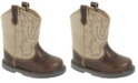Baby Deer Baby Unisex Western Boot Round Toe with Embroidery and Piping