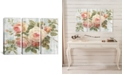 """iCanvas Vintage Roses on Driftwood by Danhui Nai Gallery-Wrapped Canvas Print - 40"""" x 60"""" x 1.5"""""""