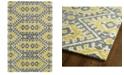 """Kaleen Global Inspirations GLB01-28 Yellow 3'6"""" x 5'6"""" Area Rug"""