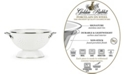 Golden Rabbit Solid White Enamelware Collection 1.5 Quart Colander