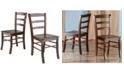 Winsome Benjamin 2-Piece Ladder Back Chair Set