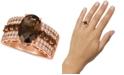 Le Vian Chocolate Quartz (3-3/4 ct. t.w.) & Nude Diamond (5/8 ct. t.w.) Ring in 14k Rose Gold