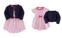 Touched by Nature Organic Cotton Dress and Cardigan Set, Trellis, 4 Toddler