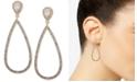 Anne Klein Ann Klein Gold-Tone Teardrop Crystal Drop Earrings