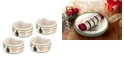 Spode CLOSEOUT! Christmas Tree Napkin Rings, Set of 4