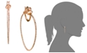 Simone I. Smith 18k Rose Gold over Sterling Silver Earrings, Crystal In-and-Out Hoop Earrings