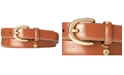 Lauren Ralph Lauren Classic Saffiano Leather Belt with Charm