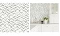 "A-Street Prints 20.5"" x 396"" Instep Abstract Geometric Wallpaper"