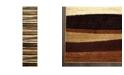 "Global Rug Designs CLOSEOUT! Global Rug Design Brighton BRI11 Brown 2'2"" x 18' Runner Area Rug"