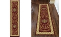 "KM Home CLOSEOUT! 1419/1334/BURGUNDY Navelli Red 2'2"" x 8' Runner Rug"