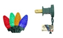Northlight Set of 100 Multi Colored Faceted LED C7 Christmas Lights - Green Wire
