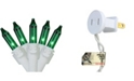 """Northlight Set of 50 Green Mini Christmas Lights 2.5"""" Spacing - White Wire"""