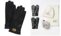 Michael Kors Leather Ornament Gloves