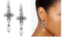 Patricia Nash Freshwater Pearl (8mm) Floral Drop Earrings