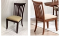 ICONIC FURNITURE Company Modern Slatback Upholstered Seat Dining Chairs, Set of 2