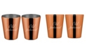 """Thirstystone Copper """"Old Fashioned"""" Double Old Fashion Cups - Set of 2"""