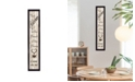 """Trendy Decor 4U Kitchen Is The Heart of The Home by Millwork Engineering, Ready to hang Framed Print, Black Frame, 7"""" x 32"""""""