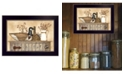 """Trendy Decor 4U Duck and Berry Still Life By Linda Spivey, Printed Wall Art, Ready to hang, Black Frame, 20"""" x 14"""""""