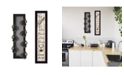 "Trendy Decor 4U Come On In 2-Piece Vignette with 7-Peg Mug Rack by Millwork Engineering, Black Frame, 7"" x 32"""