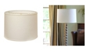 Macy's Cloth&Wire Slant Retro Drum Hardback Lampshade with Washer Fitter