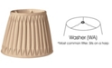 Cloth&Wire Slant Oval Double Smocked Pleat Softback Lampshade with Washer Fitter Collection