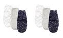 Hudson Baby Baby Boy and Girl Swaddle Wrap, 3 Pack
