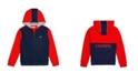 Lacoste Little and Big Boys Sport Color Block Full Zip Hoodie